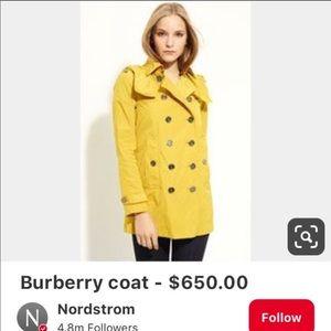 Yellow Burberry Raincoat